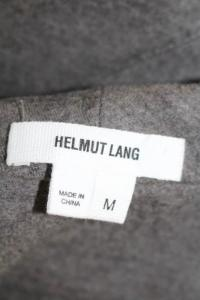 Helmut Lang Grey Wool leeveless Crew Neck Shift Dr Angle5