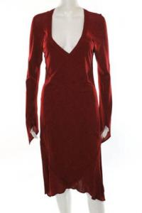Yves Saint Laurent Red Open Back Asymmetrical Dres