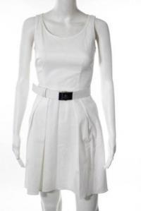 Prada Sport White Cotton Scoop Neck Belted Tea Dre