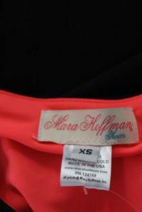 Mara Hoffman Black Pink Knit Bodycon Dress Size XS Angle5
