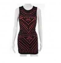 Mara Hoffman Black Pink Knit Bodycon Dress Size XS Angle1