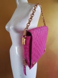 RUNWAY MARC JACOBS LATTICE PINK CALF HAIR LEATHER Angle4