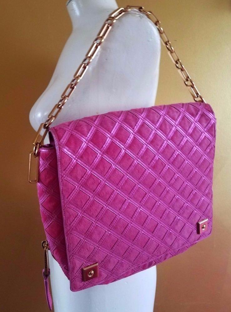 RUNWAY MARC JACOBS LATTICE PINK CALF HAIR LEATHER