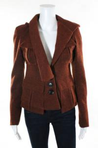 Nanette Lepore Asymmetric lapel burnt orange