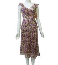DVF Women's Beautiful Geoconfetti 2 Pieces Skirt/T