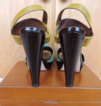 Tibi Bright Color block Sandals Angle4