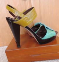 Tibi Bright Color block Sandals Angle5