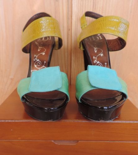 Tibi Bright Color block Sandals