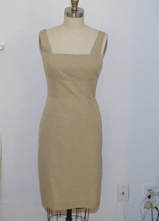 Anna Sui khaki shift dress