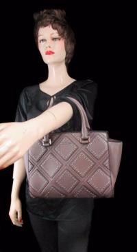 MICHAEL KORS SELMA Studded Cinder  MD Satchel Bag Angle3