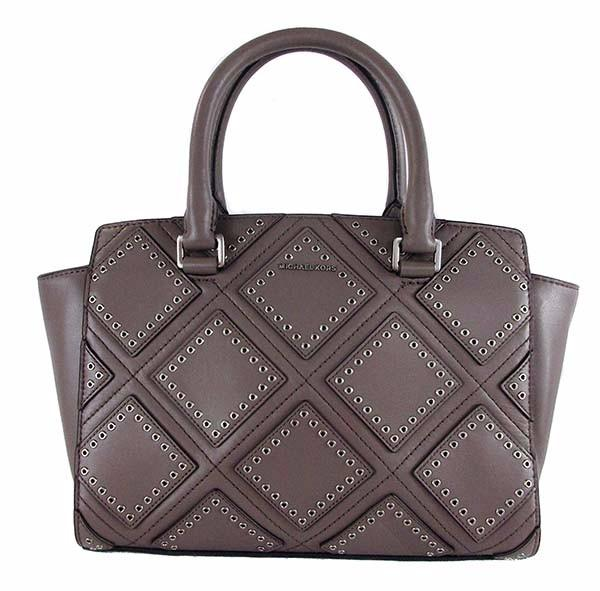 MICHAEL KORS SELMA Studded Cinder  MD Satchel Bag