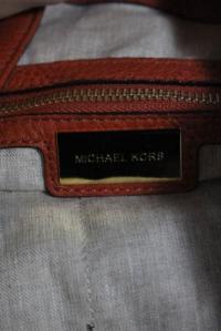 Michael Kors Collection Orange  Braided Handle Angle4