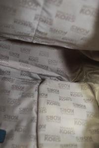 Michael Kors Blue Pebbled  Silver Tone Shoulder ba Angle4