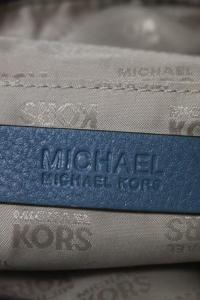 Michael Kors Blue Pebbled  Silver Tone Shoulder ba Angle5