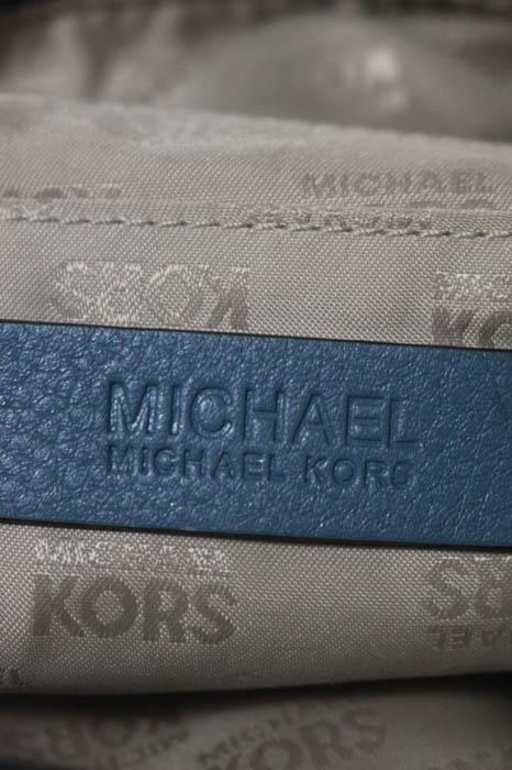 Michael Kors Blue Pebbled  Silver Tone Shoulder ba