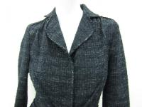 Alberta Ferretti Women's Black Button Coat Jacket Angle1