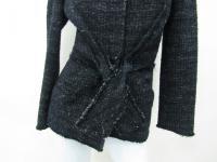 Alberta Ferretti Women's Black Button Coat Jacket Angle2