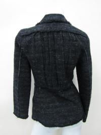 Alberta Ferretti Women's Black Button Coat Jacket Angle4