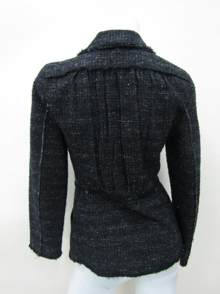 Alberta Ferretti Women's Black Button Coat Jacket