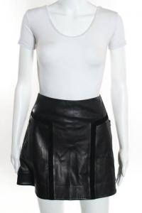 Rag & Bone Black  Paneled Mini A Line Skirt Size 4 Angle1