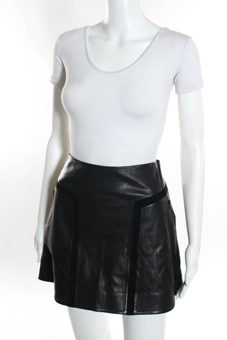 Rag & Bone Black  Paneled Mini A Line Skirt Size 4