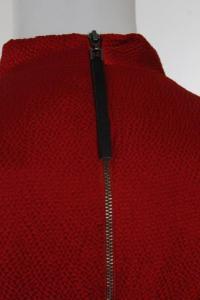 Helmut Lang Red Silk Sleeveless Cowl Neck Dress 6 Angle3