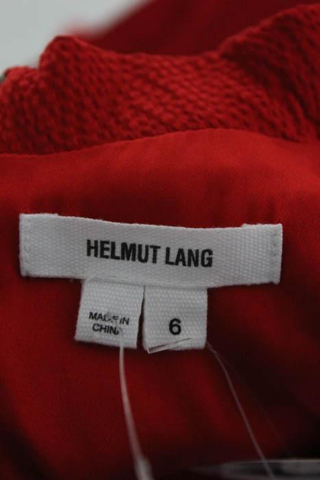 Helmut Lang Red Silk Sleeveless Cowl Neck Dress 6
