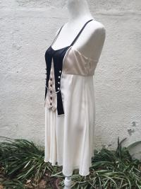 TEMPERLEY LONDON SILK TUXEDO BABYDOLL DRESS US 8 Angle4