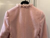 ESCADA Pink Tweed Fringe Jacket Wool Silk Women RA Angle6