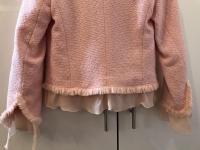 ESCADA Pink Tweed Fringe Jacket Wool Silk Women RA Angle7