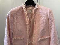 ESCADA Pink Tweed Fringe Jacket Wool Silk Women RA Angle8