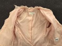 ESCADA Pink Tweed Fringe Jacket Wool Silk Women RA Angle10