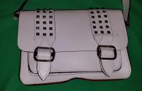 REBECCA MINKOFF White  Buckles Studs Crossbody Angle11