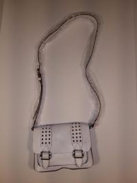 REBECCA MINKOFF White  Buckles Studs Crossbody Angle3