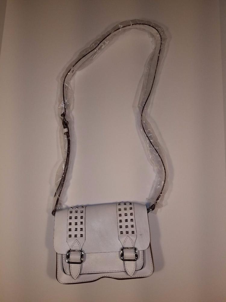 REBECCA MINKOFF White  Buckles Studs Crossbody