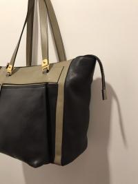 MARNI Bag  Black Olive Tote Shoulder Front Pocket  Angle5