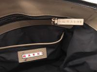 MARNI Bag  Black Olive Tote Shoulder Front Pocket  Angle6