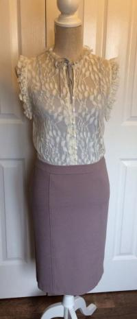 Alice By Temperley Taupe and Cream Lace Dress. UK  Angle5