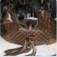 Gucci Indy Crystal Coated Hobo