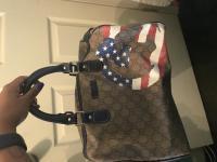 Limited Edition American Flag Boston Bag Angle2