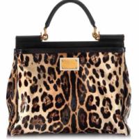 Large Dolce & Gabbana leopard handbag