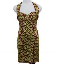 Zac Posen Animal Print Silk Dress