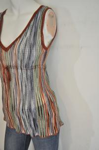 Sleeveless Knit Metallic Top Angle2