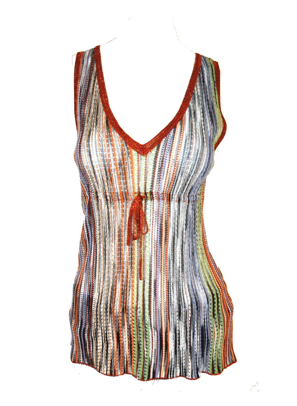 Sleeveless Knit Metallic Top