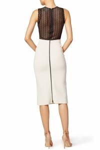 David Koma Long and Sleek Pencil Dress Angle3