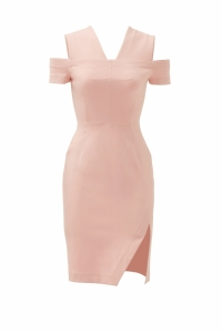 Yigal Azrouel Blush Pink Slip Shoulder Dress