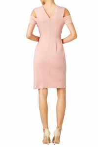 Yigal Azrouel Blush Pink Slip Shoulder Dress Angle3