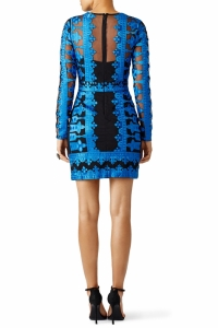 Yigal Azrouel Embroidered Mesh Dress Angle3
