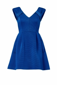 Nanette Lepore Blue Ribbed Short Dress