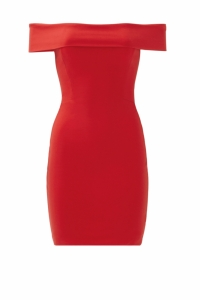 Halston Heritage Red off the Shoulder Short Dress